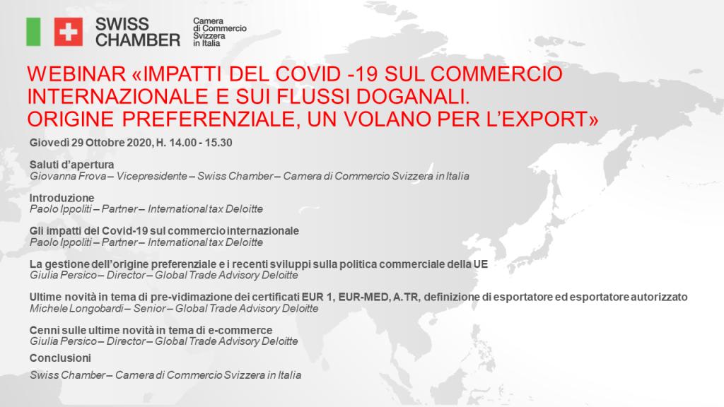 Impatti del Covid -19 sul commercio internazionale